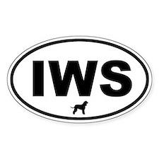IWS (Irish Water Spaniel) Oval Decal