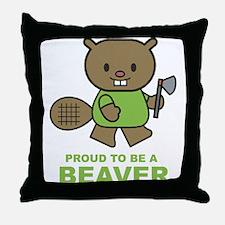 Proud To Be A Beaver Throw Pillow