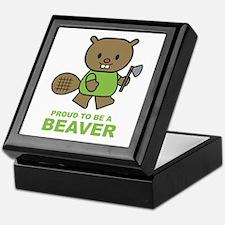 Proud To Be A Beaver Keepsake Box