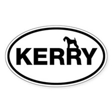 KERRY (Kerry Blue Terrier) Oval Decal