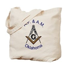Oklahoma Square and Compass Tote Bag