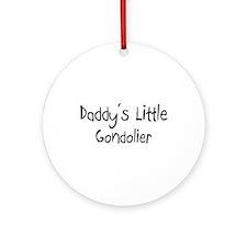 Daddy's Little Gondolier Ornament (Round)
