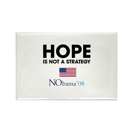 Hope is not Strategy Rectangle Magnet