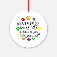 Love pets, child Keepsake (Round)