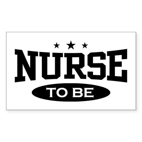 Nurse To Be Rectangle Sticker