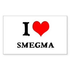White Smegma 2 Rectangle Decal