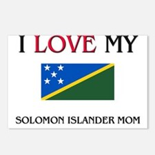 I Love My Solomon Islander Mom Postcards (Package