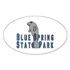 Blue Spring State Park Manate Oval Decal