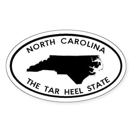 North Carolina Tar Heel State Oval Sticker