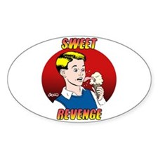 Skuzzo Sweet Revenge Oval Decal