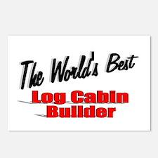 """The World's Best Log Cabin Builder"" Postcards (Pa"