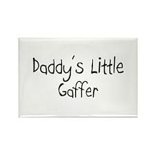 Daddy's Little Gaffer Rectangle Magnet