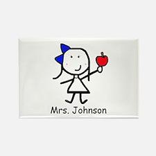 Apple - Mrs. Johnson Rectangle Magnet
