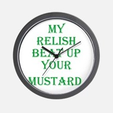 Relish Beat Mustard - Go Must Wall Clock