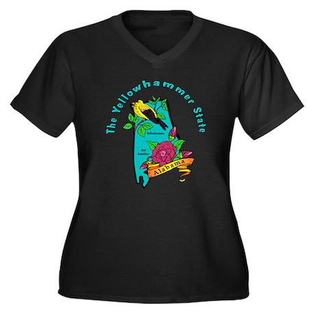 Alabama Pride Women's Plus Size V-Neck Dark T-Shir