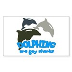 Dolphins Rectangle Sticker