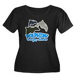 Dolphins Women's Plus Size Scoop Neck Dark T-Shirt