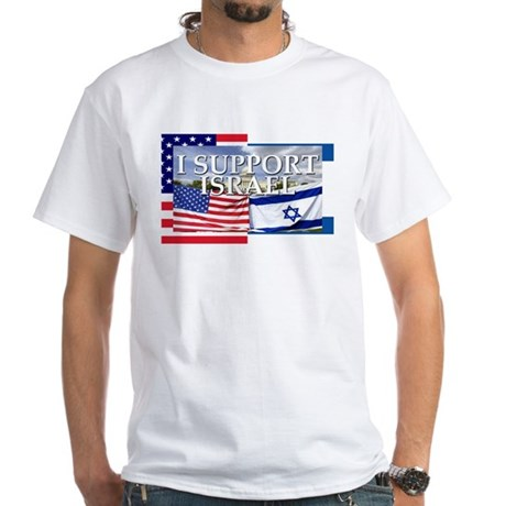 I Support Israel White T-Shirt