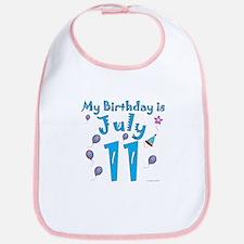 July 11th Birthday Bib