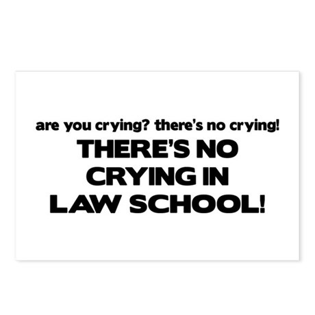 There's No Crying Law School Postcards (Package of