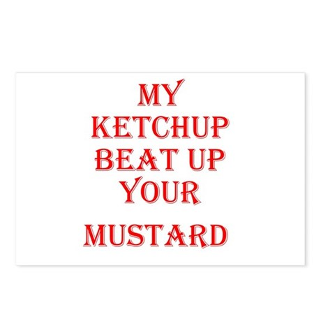 Ketchup Beat Mustard Postcards (Package of 8)