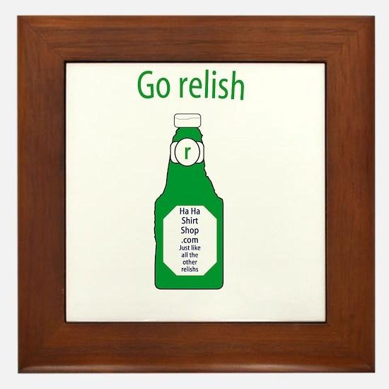 Go Relish Framed Tile