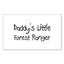 Daddy's Little Forest Ranger Rectangle Decal
