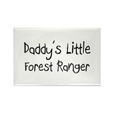 Daddy's Little Forest Ranger Rectangle Magnet