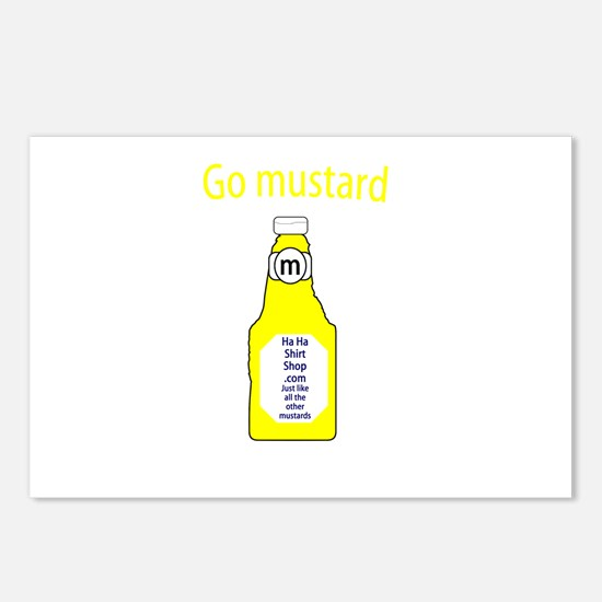 Go Mustard Postcards (Package of 8)