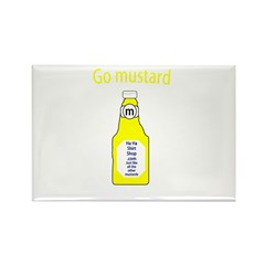 Go Mustard Rectangle Magnet (100 pack)