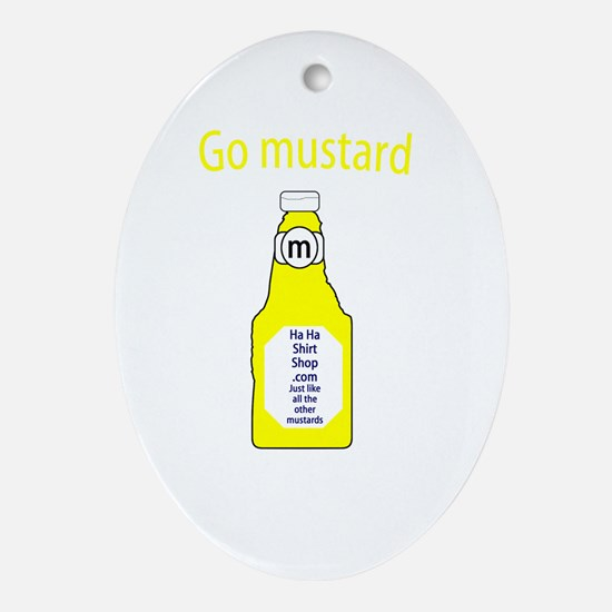 Go Mustard Oval Ornament