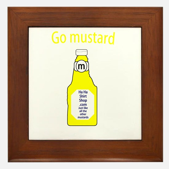 Go Mustard Framed Tile