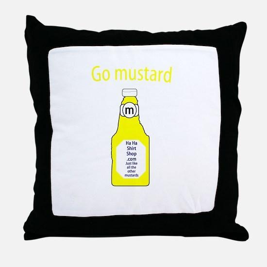 Go Mustard Throw Pillow