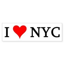 I Love NYC Bumper Bumper Sticker