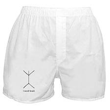 """""""I Need Head"""" Boxer Shorts"""