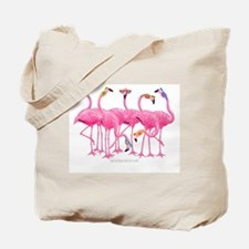 Cute Flamingos Tote Bag