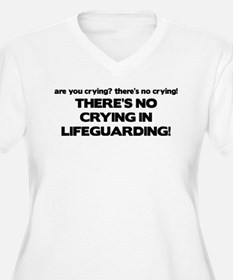 There's No Crying Lifeguarding T-Shirt