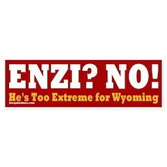 Anti-Enzi Wyoming Bumper Bumper Sticker
