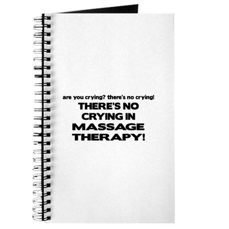 There's No Crying Massage Therapy Journal