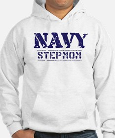 Navy Stepmom Worn Stencil Jumper Hoody