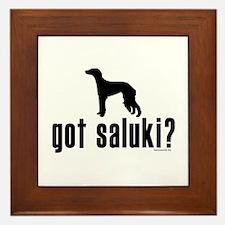 got saluki? Framed Tile