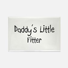 Daddy's Little Fitter Rectangle Magnet