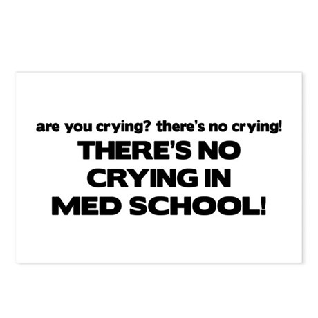 There's No Crying Med School Postcards (Package of