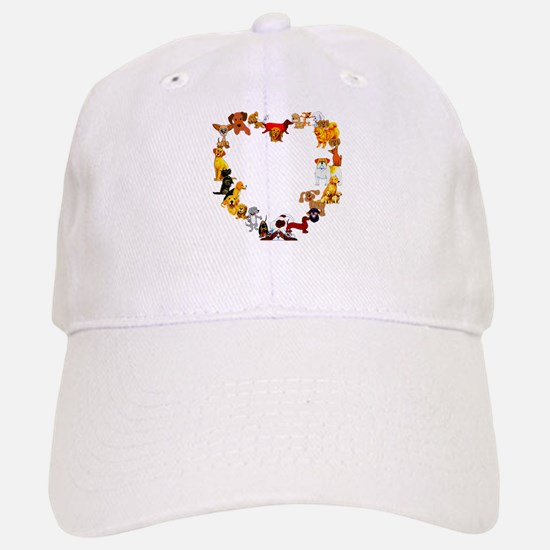 Dog Heart Baseball Baseball Cap