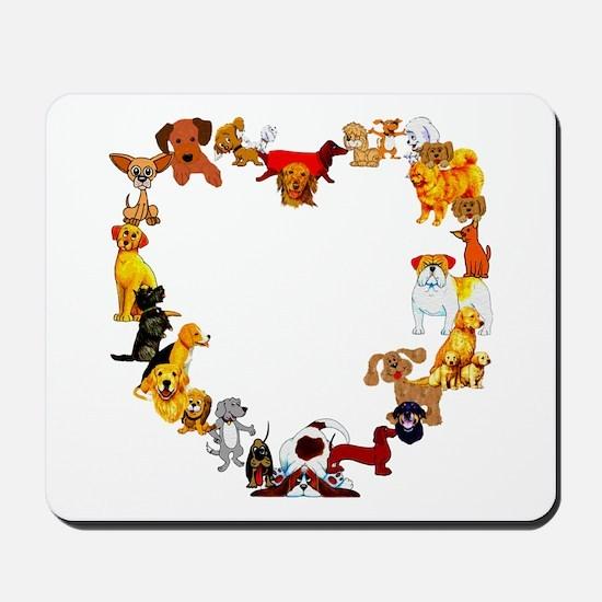Dog Heart Mousepad