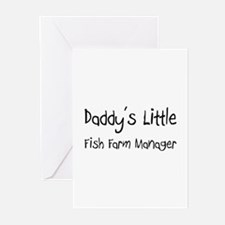 Daddy's Little Fish Farm Manager Greeting Cards (P
