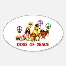 Dogs Of Peace Oval Decal