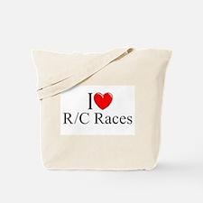 """I Love (Heart) R/C Races"" Tote Bag"