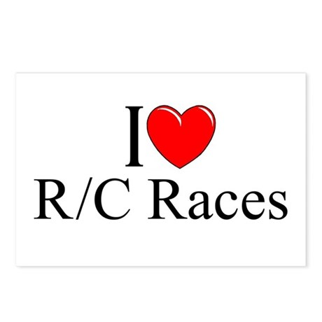 """I Love (Heart) R/C Races"" Postcards (Package of 8"