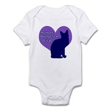 My Heart : Ocicat Infant Bodysuit